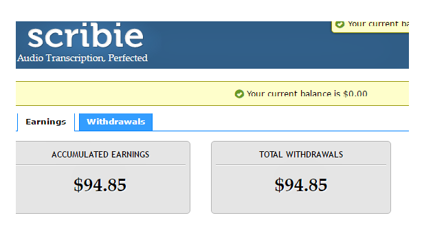 scribie-earning