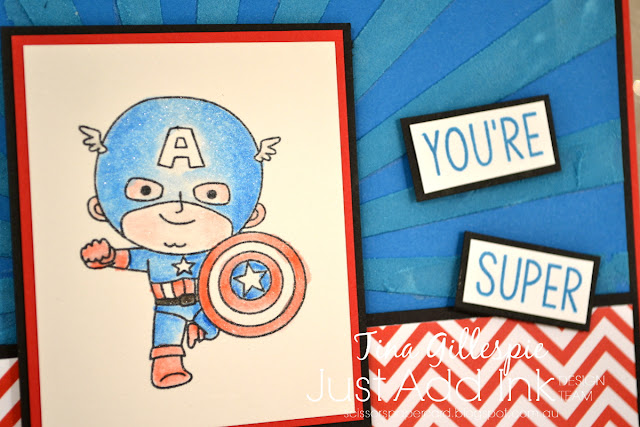 scissorspapercard, Stampin' Up!, Kindred Stamps, Just Add Ink, You're Super, Building Blocks