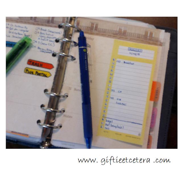 planner, errands, schedule, day-timer, inserts,