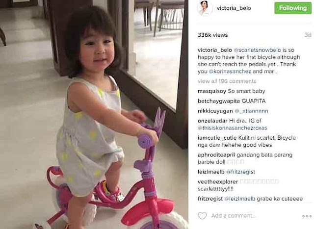 Little Scarlet Snow's First Gift From Korina Sanchez And Mar Roxas! Must See!