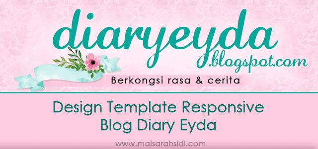 Design Template Responsive Blog Diary Eyda