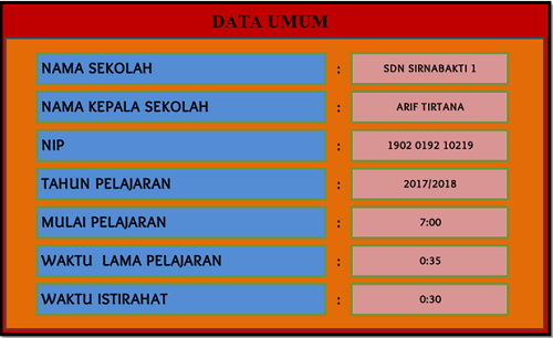 Aplikasi Jadwal Pelajaran Sekolah Sd Smp Sma Smk Tahun