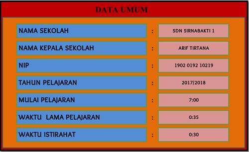 Aplikasi Jadwal Pelajaran Sekolah SD SMP SMA SMK Tahun 2017/2018