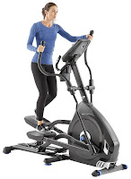 "Nautilus E616 Elliptical Trainer, features reviewed, performance elliptical machine for intensive training, with 20"" Precision Path stride length, 25 ECB resistance levels, 29 customized workout programs, 0-11% motorized incline, 4 user profiles"