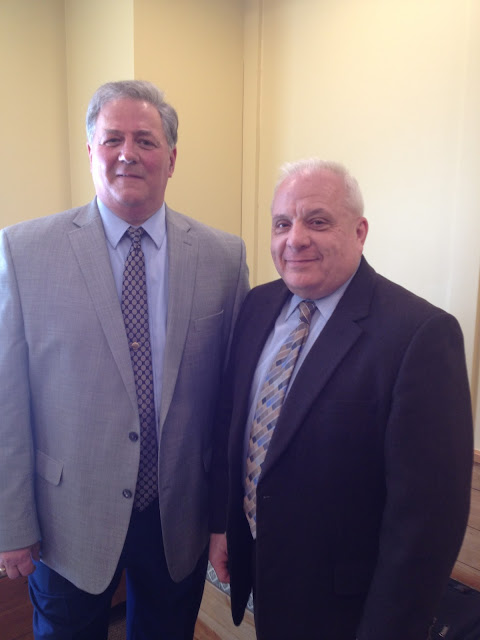 Litchfield-Morris Rotary Thanks Casino Investigators Jerry Longo & Jeff DeClerck for Presentation on Louis The Coin Case