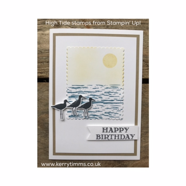kerry timms stampin up high tide stamps cardmaking papercraft scrapbooking gloucester class hobby female stamping craft creative