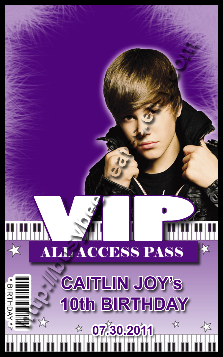 Busy bee creates party with justin bieber vip pass m4hsunfo