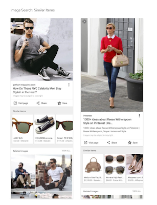 Similar objects: Rich merchandise characteristic on Google Image Search