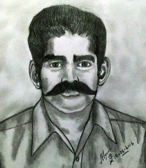 PENCIL DRAWNG - ARTIST RAJALINGAM