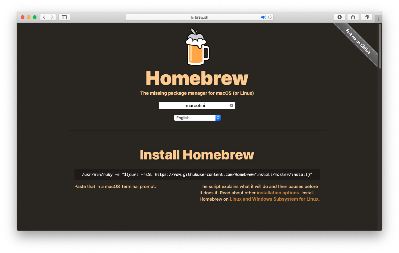 Come installare Homebrew su macOS