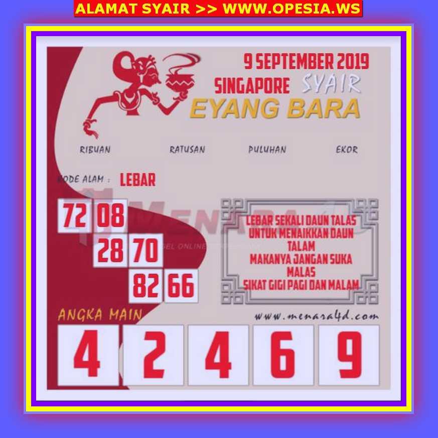 Kode syair Singapore Rabu 9 Oktober 2019 51