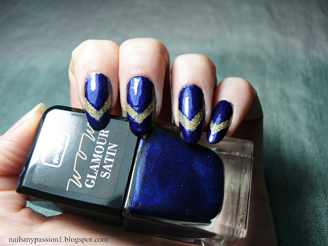 Projekt Tęcza 2 - Granatowy | Naklejki do Frencha od Wibo Diamond Tip. Recenzja