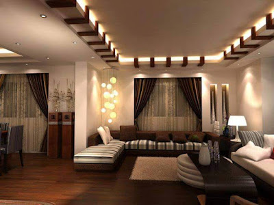 Interior-Design-Awesome-house-interior-design-come-with-luxury-drop-ceiling-lighted-ideas-and-appealing-brown-leather-sofa-design-also-elegant-wooden-partition-design
