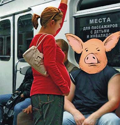 Witzige Böse Menschen in der Bahn - Schwangere Frau muss stehen - Mann darf sitzen