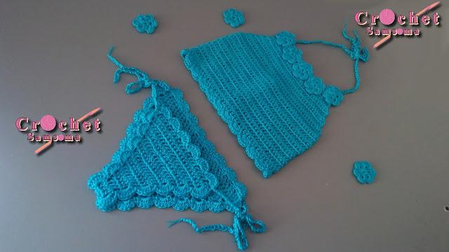 كروشيه بكيني . كروشيه بكيني  . كروشيه توب بيكيني .  كروشيه مايوه بكينى  .كروشيه حمالة صدر باسهل طريقة . كروشيه أندر وير  بيكيني   . كروشيه اندروير بكيني . How to Crochet Bikini Bottoms  . .   Crochet Top . Crochet Bra .  كروشيه براه . Crochet Bikini