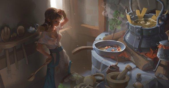 Bo Xun Lin artstation arte ilustrações fantasia mulheres cartoon