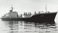 Soviet general cargo ship Sarny By Грищук ЮН (My photo from my collection of photos) [CC BY-SA 3.0 (http://creativecommons.org/licenses/by-sa/3.0)], via Wikimedia Commons