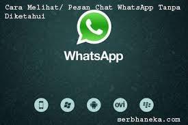 Cara Melihat/ Pesan Chat WhatsApp Tanpa Diketahui 1