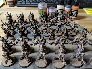 All the poxwalkers and the paints used for hour 9