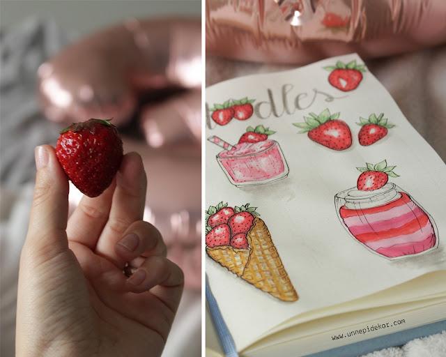 Bullet Journal Doodles: Strawberry- Oszlánszki Marcsi