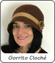 Gorrito Cloché a crochet
