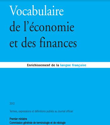 Vocabulaire de l'économie et des finances PDF