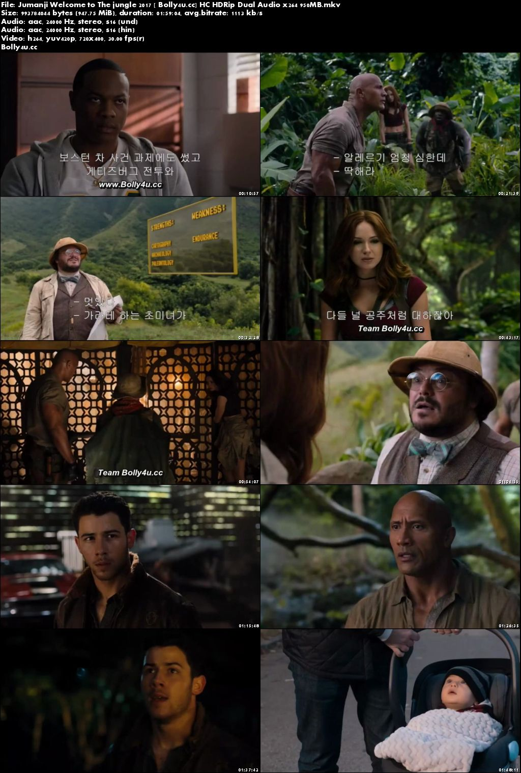 Jumanji Welcome to The jungle 2017 HC HDRip 400MB Hindi Dual Audio 480p Download