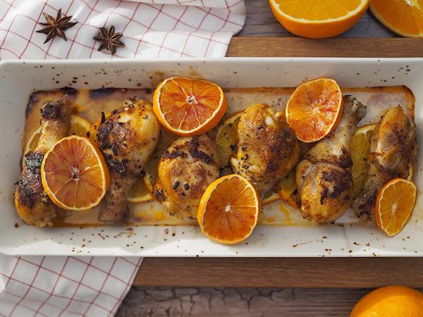 Miedon mausteiset broilerin appelsiinikoivet