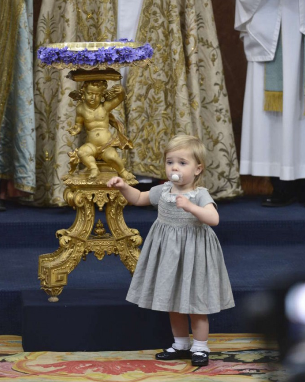 Princess Leonore of Sweden In Bonpoint At The Christening of Prince Nicolas of Sweden