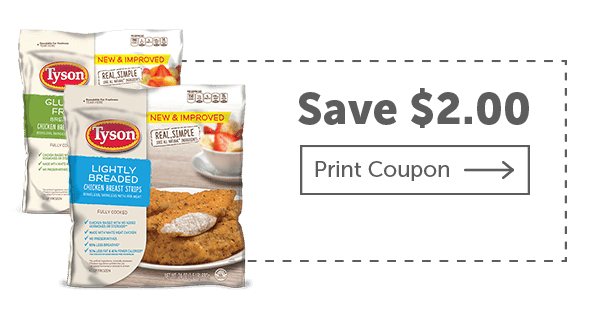 Coupon Clipping Moms: $2 Tyson Lightly Breaded Chicken coupon