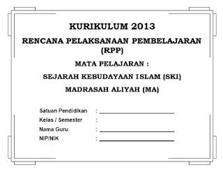 RPP SKI Kurikulum 2013 MA