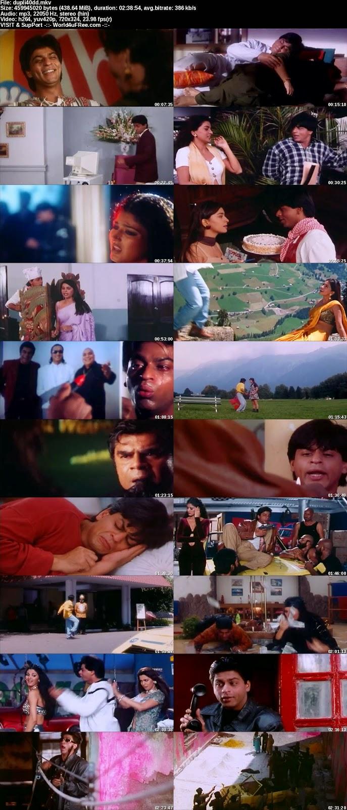 Download Duplicate (1998) Hindi Movie DVDRip 480p 400mb