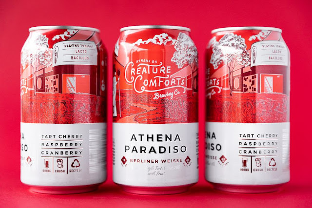 Creature Comforts Athena Paradiso with Tart Cherry, Raspberry, & Cranberry Returns this March