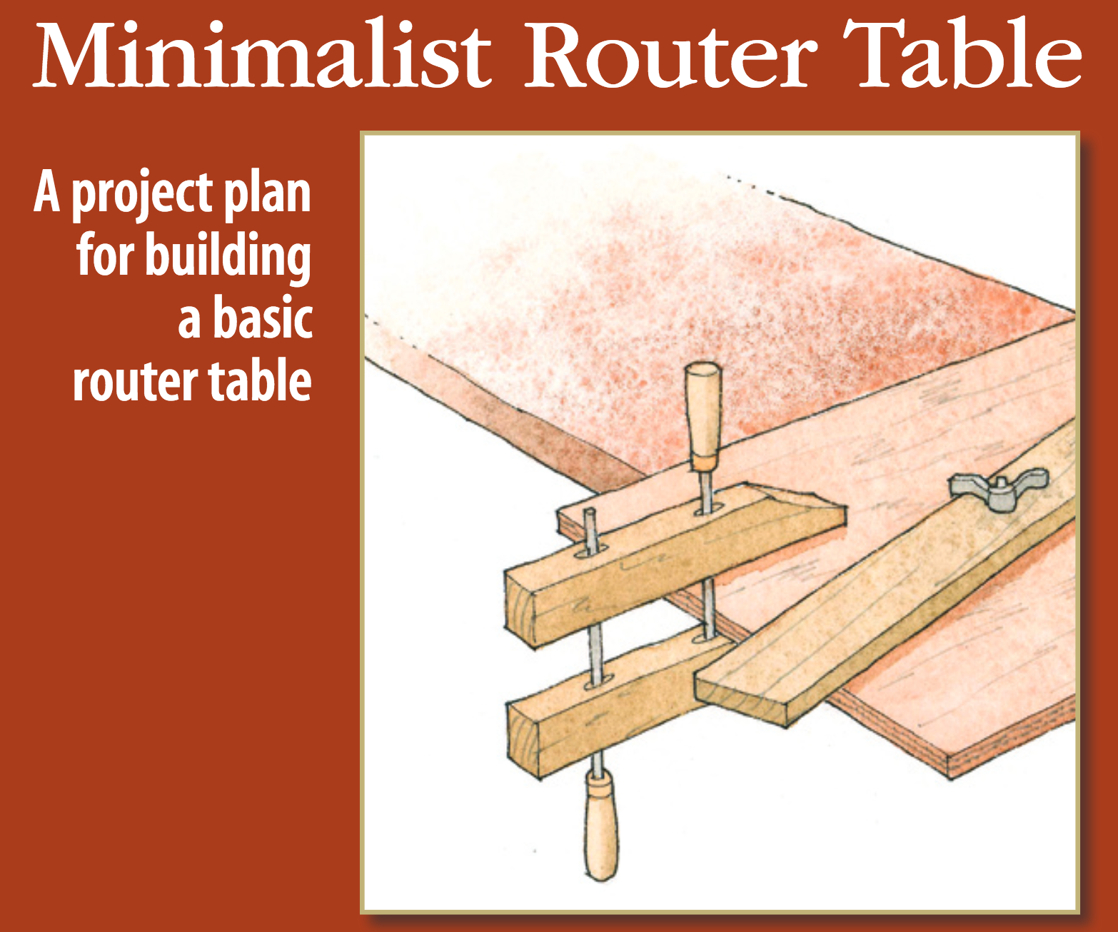 Wisdom of the hands router table free plan fine woodworking offers a free plan for my minimalist router table that you can download here greentooth Images