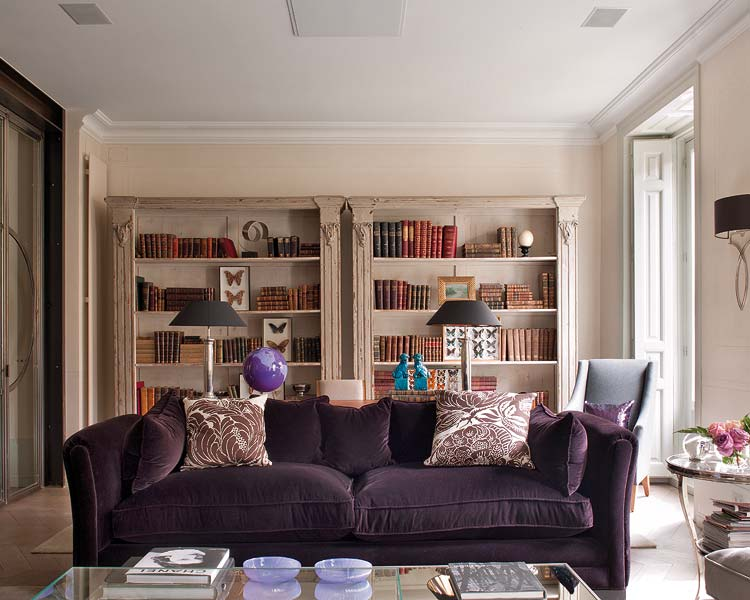 purple living room decorating ideas interior home design. Black Bedroom Furniture Sets. Home Design Ideas