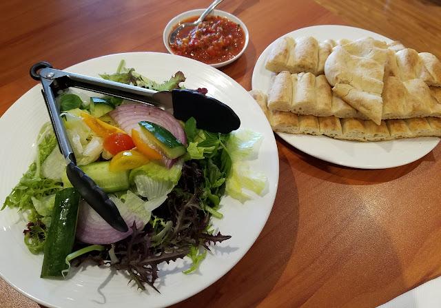 Afghan Salang Restaurant, Dandenong, salad, dip, bread