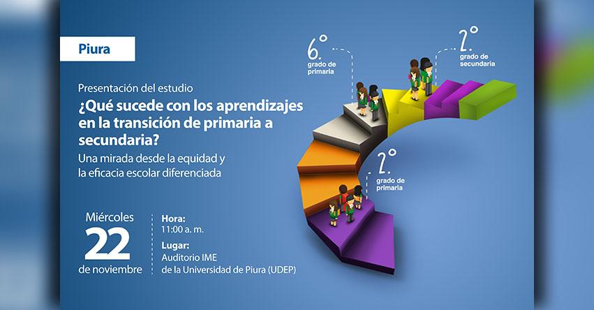 PIURA: ¿Qué sucede con los aprendizajes de los estudiantes en la transición de primaria a secundaria? MINEDU - www.minedu.gob.pe
