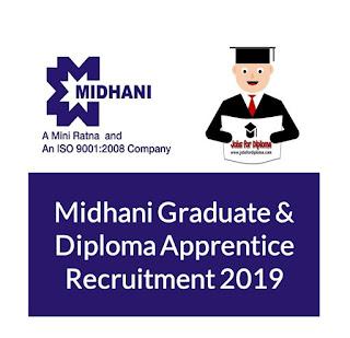 Midhani Graduate & Diploma Apprentice Recruitment 2019