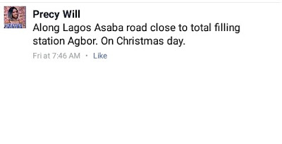 Photos: Europe-based young man killed in fatal accident on Christmas Day in Agbor four days after arriving Nigeria