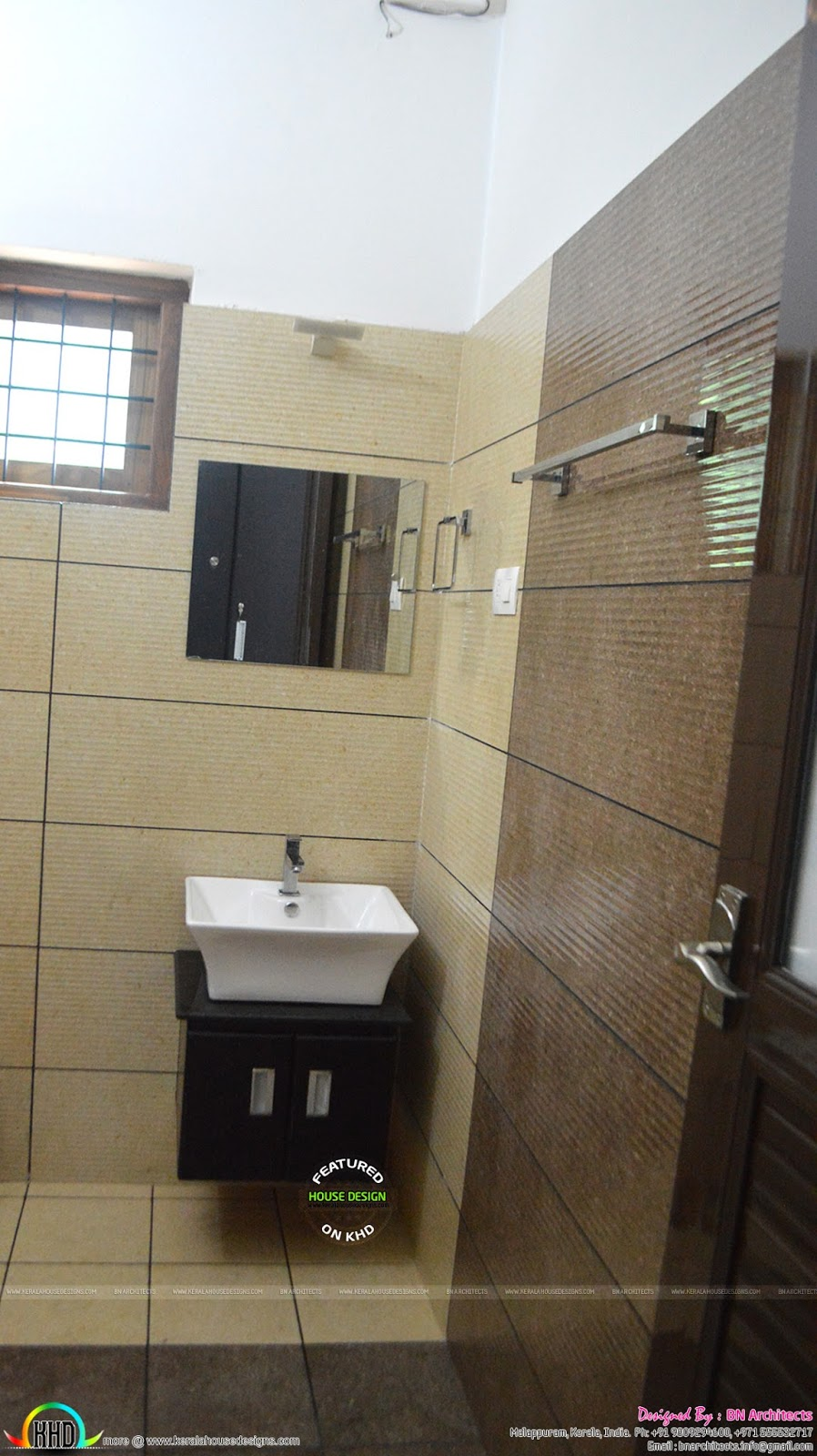 Completed house at nilambur kerala kerala home design Bathroom tiles design in kerala