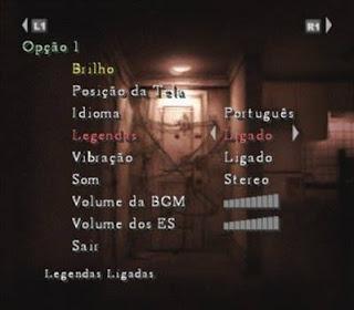 Menu Silent Hill 4 The Room 2004 PS2 Traduzido em Português