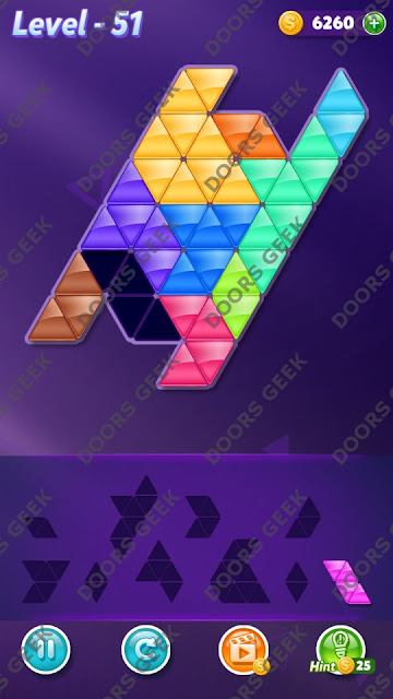Block! Triangle Puzzle Master Level 51 Solution, Cheats, Walkthrough for Android, iPhone, iPad and iPod