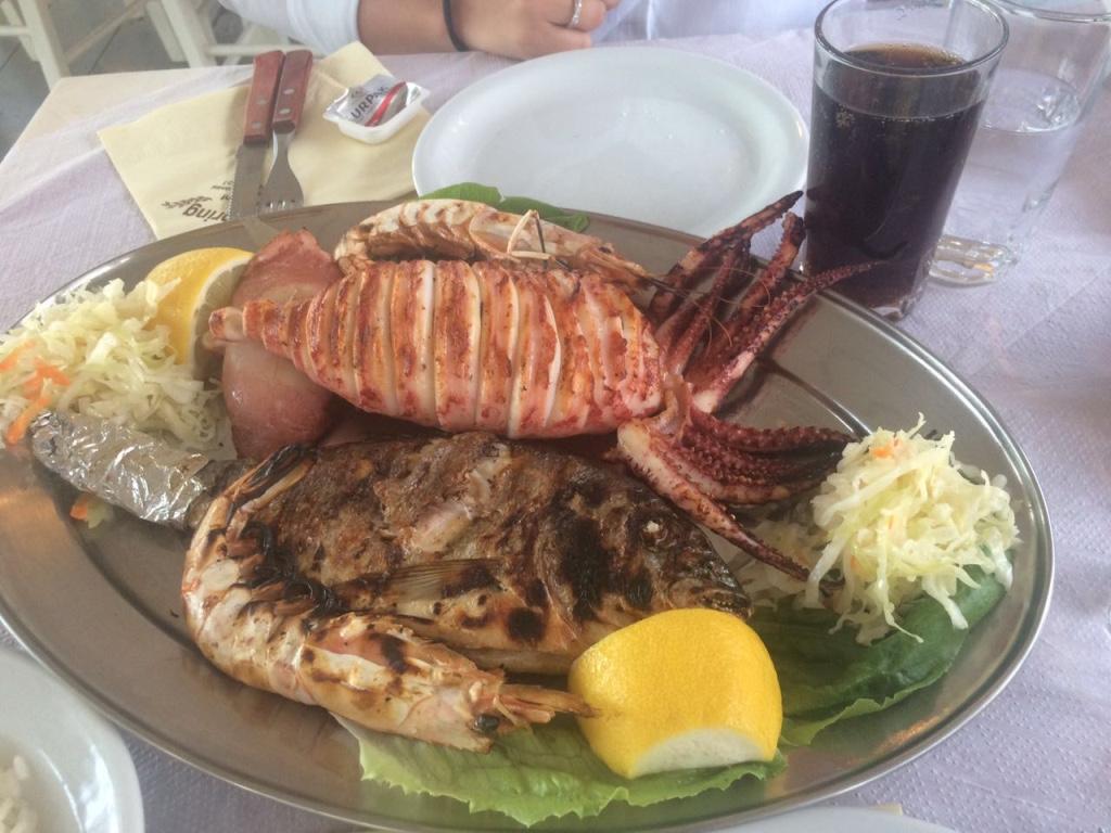 First Dinner In Santorini