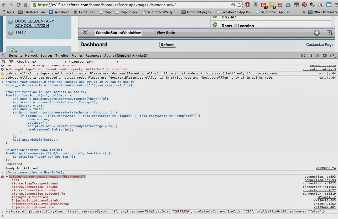 Use Ajax Toolkit for Salesforce in Developer Console - Oyecode