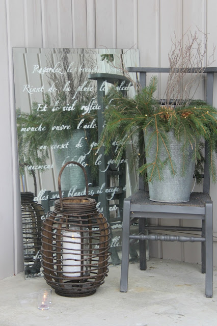 image result for rustic prayer chair galvanized bucket wood lantern christmas front porch farmhouse