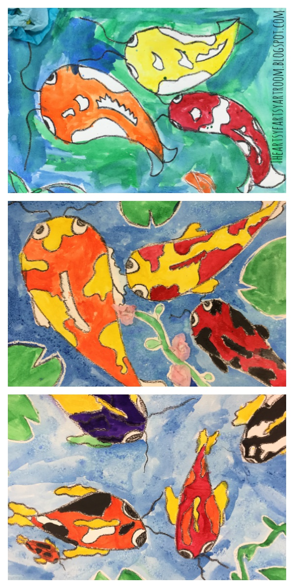The artsy fartsy art room japanese koi fish with 3rd grade for Koi fish culture
