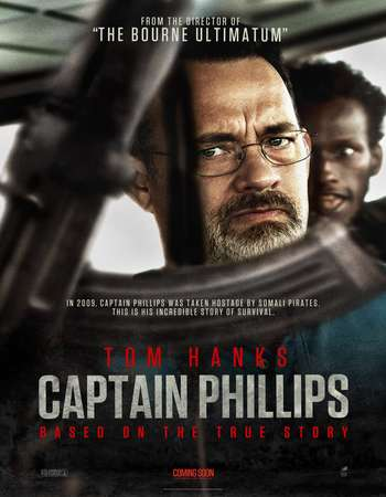 Poster Of Captain Phillips 2013 Dual Audio 550MB BRRip 720p ESubs HEVC Free Download Watch Online downloadhub.net