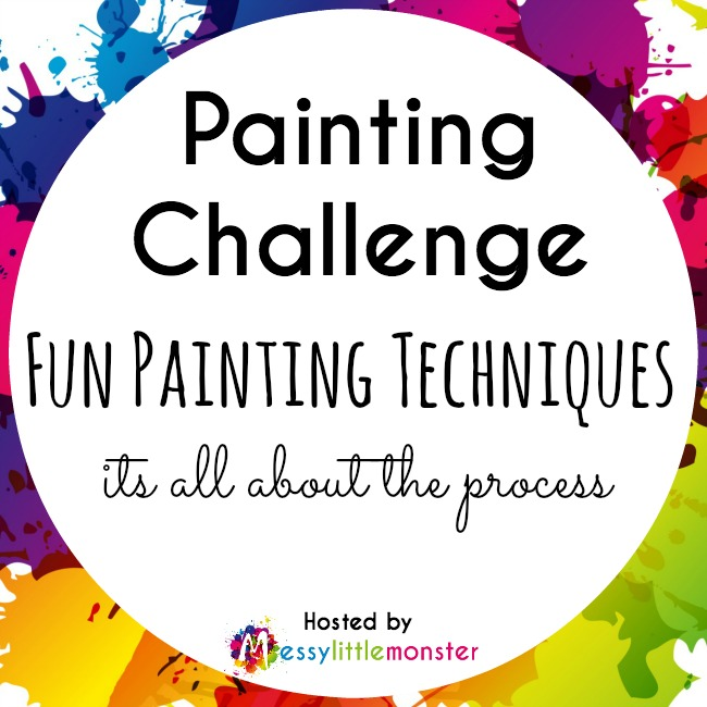 painting challenge.  35 fun painting techniques for kids.