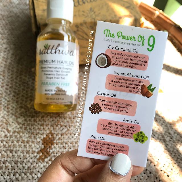satthwa hair oil ingredients