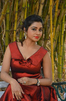 Tamil Actress Anisha Xavier Pos in Red Dress at Pichuva Kaththi Tamil Movie Audio Launch  0003.jpg